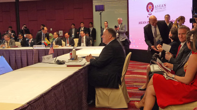 Menlu AS Mike Pompeo di Pertemuan Tingkat Menteri ASEAN ke-52.