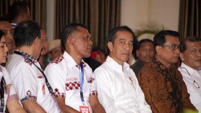 Presiden Jokowi di Kongres Bara JP, Forest Resort Hotel, Pamoyaman, Bogor, Jumat, (2/8)