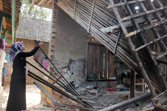 Rumah rusak akibat gempa Banten, Pandeglang