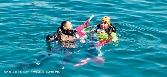 Foto: Kapolri Ikut Pecahkan Rekor Dunia Selam di Manado (57209)