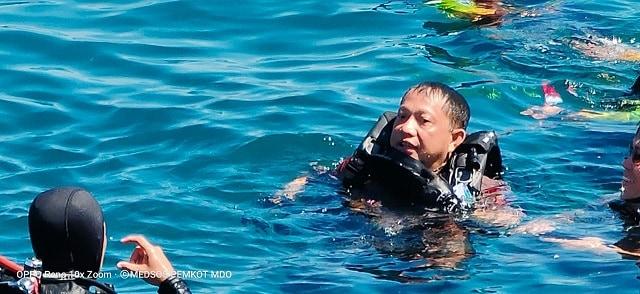 Foto: Kapolri Ikut Pecahkan Rekor Dunia Selam di Manado (57210)