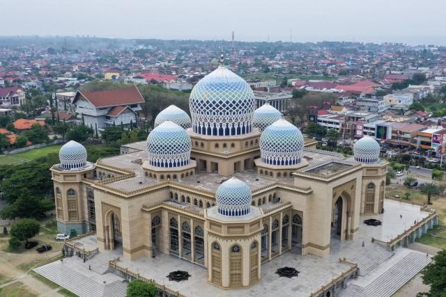 Foto Masjid Agung Islamic Center Ikon Kota Lhokseumawe