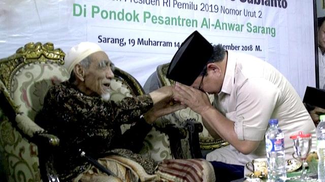 Mbah Moen, Prabowo Subianto