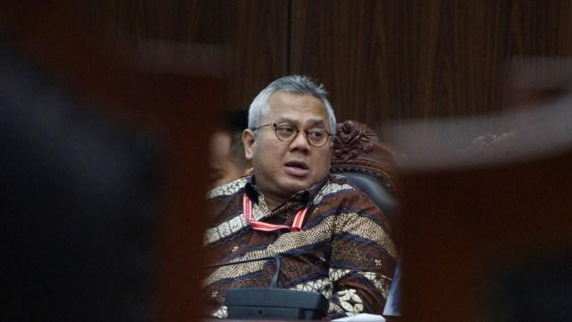 Ketua KPU, Arief Budiman, Mahkamah Konstitusi (MK) menggelar sidang putusan Perselisihan Hasil Pemilihan Umum (PHPU) Pemilu Legislatif 2019