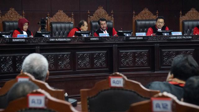 Mahkamah Konstitusi (MK) menggelar sidang putusan Perselisihan Hasil Pemilihan Umum (PHPU) Pemilu Legislatif 2019