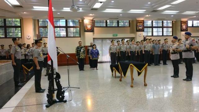 Serah terima jabatan Kakor Brimob dan Kapolda Kalimantan Tengah di Rupatama Mabes Polri. Foto: Mirsan Simamora/kumparan