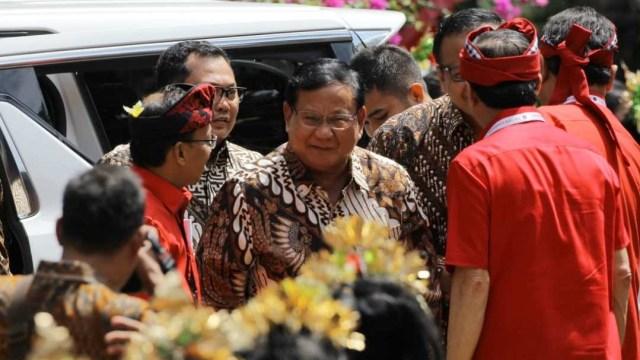Kongres V PDIP, Prabowo Subianto