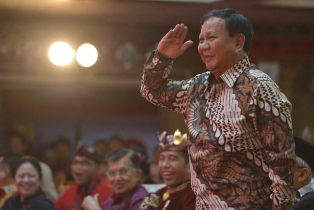 (NOT COVER) Ketua Umum Partai Gerindra Prabowo Subianto, Kongres V PDIP di Sanur, Bali