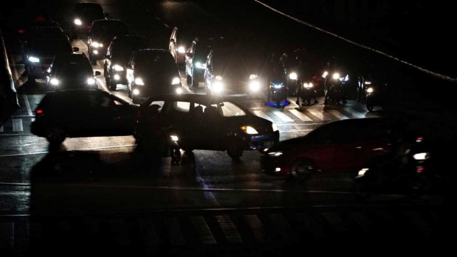 Blackout, Mati listrik massal, lalu lintas