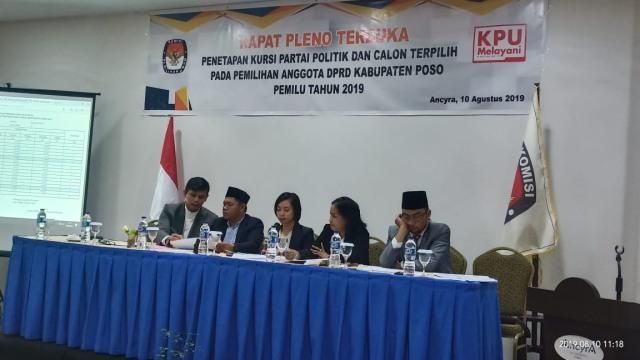 KPU Poso Tetapkan Anggota DPRD Terpilih, Berikut Rinciannya (273559)