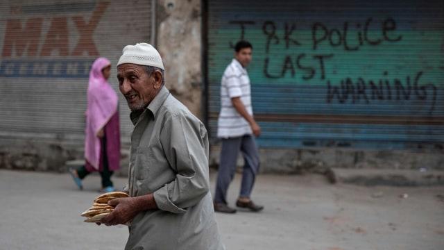 Suasana Idul Adha di Kashmir