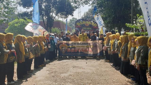 com-Seni Helaran Badogar di Dayeuh Manggung pada Selasa (13/8).