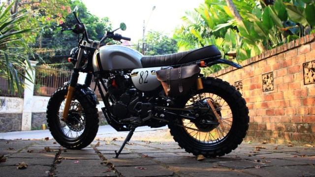 Inspirasi Modifikasi Yamaha Scorpio Jadi Tracker Gambot (29086)