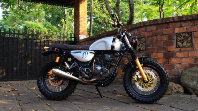 Inspirasi Modifikasi Yamaha Scorpio Jadi Tracker Gambot (29084)