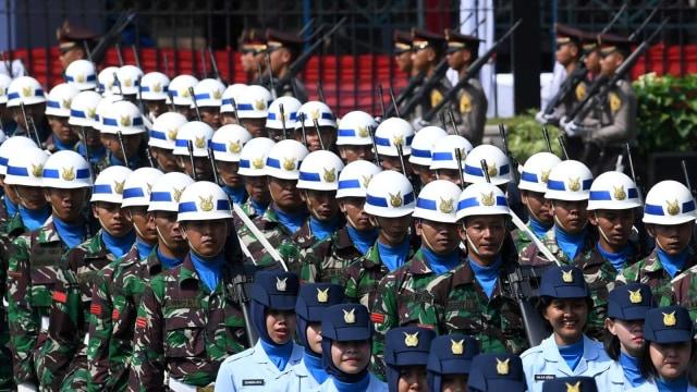 Latihan Upacara Jelang HUT ke-74 Kemerdekaan RI, Istana Presiden