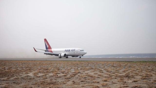 Pesawat komersial pertama mendarat di Runway ke-3 Bandara Soekarno-Hatta