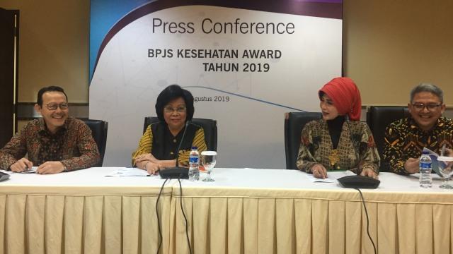 Konferensi pers di BPJS Kesehatan mengenai BPJS Award