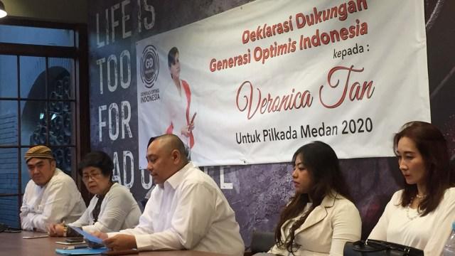 Deklarasi dukungan Veronica Tan, Pilkada Walikota Medan 2020
