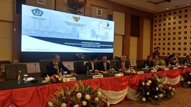 Konferensi pers keuangan pemerintah dan RAPBN 2020