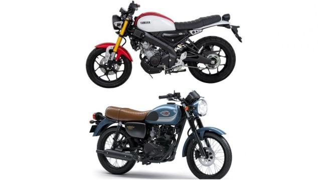Yamaha XSR155 dan Kawasaki W175