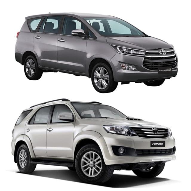 Toyota Kijang Innova dan Toyota Fortuner