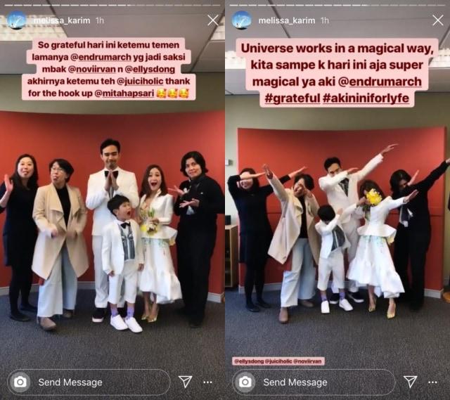 Melissa Karim dan Endru March Sukardi usai menikah