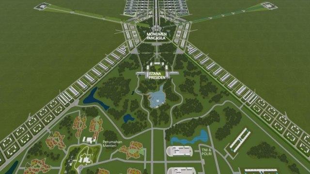 Rancangan konsep Ibu Kota baru di Kalimantan