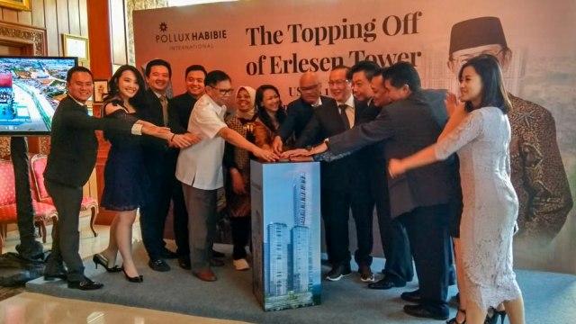 Topping Off Tower Keempat Mega Superblok BJ Habibie di The Habibie & Ainun Library