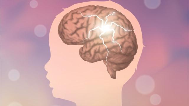 Ilustrasi otak anak.