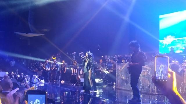 Konser Nicky Astria di Balai Sarbini, Jakarta Selatan.