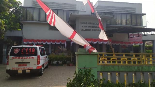 Mobil ambulans di Puskesmas Cikokol, Tangerang