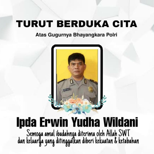 Ipda Erwin, Polisi yang Terbakar saat Kawal Demo di Cianjur Meninggal (286675)
