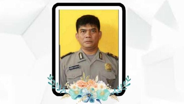 Anggota Polres Cianjur, Ipda Erwin yang meninggal karena terbakar saat kawal unjuk rasa