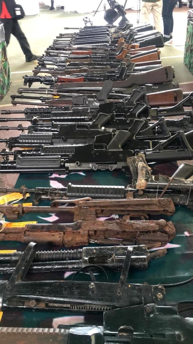 Berkunjung ke Aceh, KSAD Lihat 118 Senjata Sisa Konflik Aceh (157069)