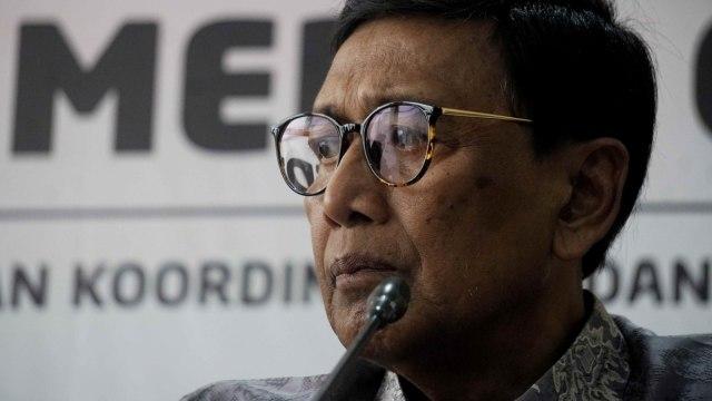 Menkopolhukam Wiranto menyampaikan keterangan pers terkait perkembangan situasi di Papua