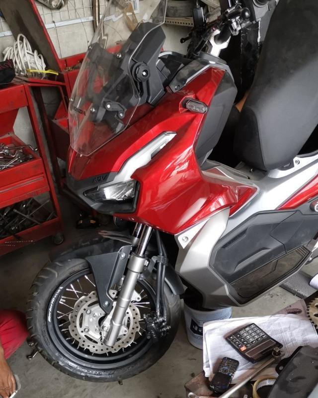 Modal Rp 4,5 Juta, Ubah Velg Honda ADV150 Jadi Jari-jari (146236)