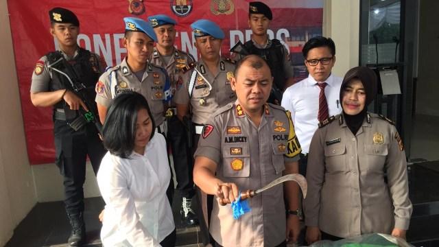 Rilis Penangkapan Tersangka Pembunuhan Siswa SMK di Polres Bogor