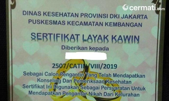 Cara Buat Sertifikat Layak Kawin, Wajib Punya Kalau Mau Nikah di DKI (102931)