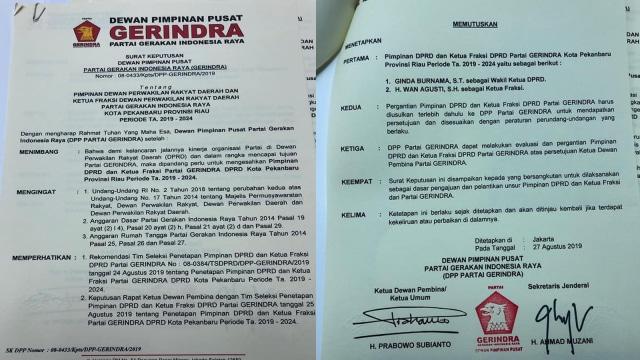 Prabowo Teken SK Menantu Wako Firdaus sebagai Pimpinan DPRD Pekanbaru (14949)