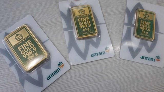 Harga Emas Antam Hari Ini Turun Rp 12 000 Per Gram Kumparan Com