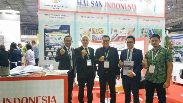 Perum Perindo ikut ajang pameran eksportir dan produsen seafood internasional di Vietnam atau Vietfish 2019