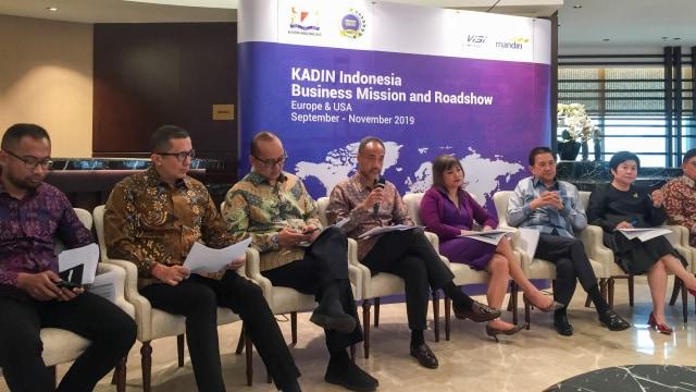Konferensi Pers Kadin Indonesia Business Mission Europan and USA