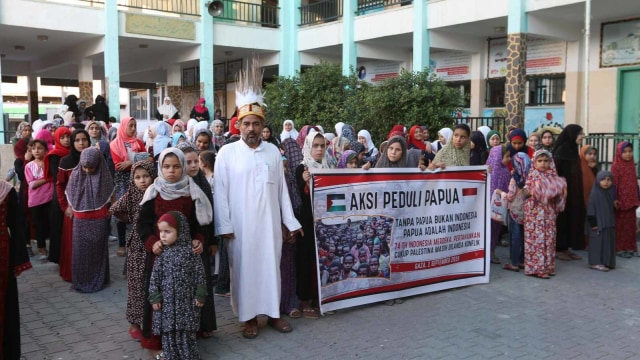 Foto: Warga Palestina Gelar Aksi dan Doa untuk Perdamaian Papua (49955)