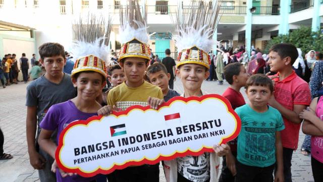 Foto: Warga Palestina Gelar Aksi dan Doa untuk Perdamaian Papua (49953)