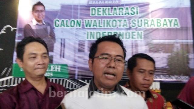 Jalur Independen Pilwali Surabaya, Sholeh Klaim Kantongi 50 Ribu KTP (405510)