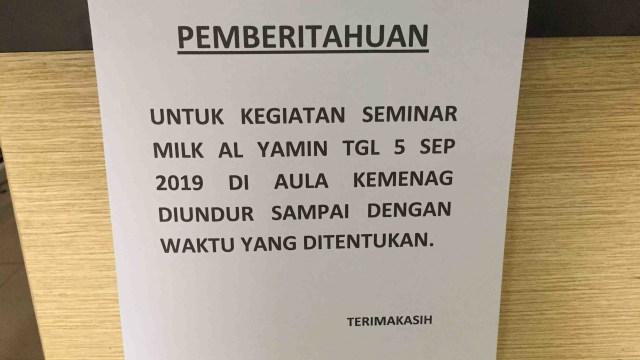Seminar Menelaah Disertasi Seks di Luar Nikah Batal Digelar di Kemenag Tangerang Selatan