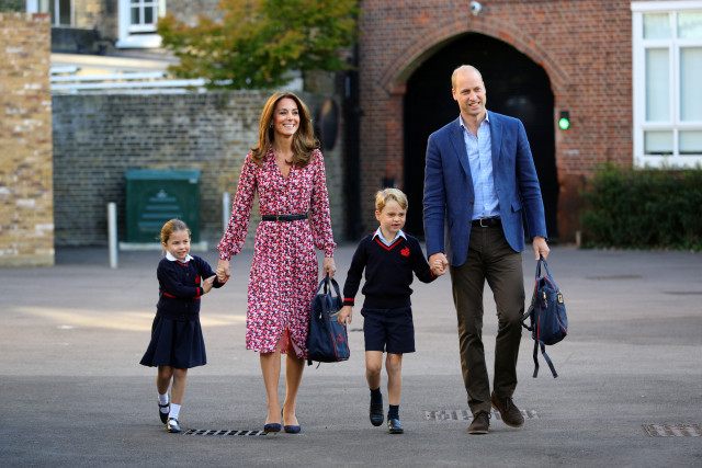 Pangeran William dan Kate Middleton Lega Anak-anaknya Kembali Sekolah (62213)