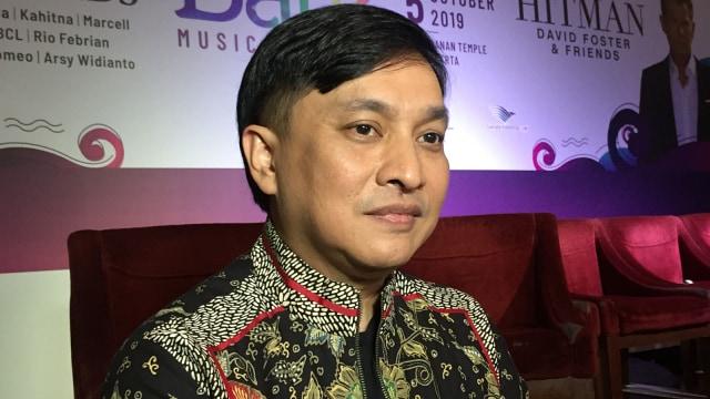 yovie widianto di preskon Batik Music Festival