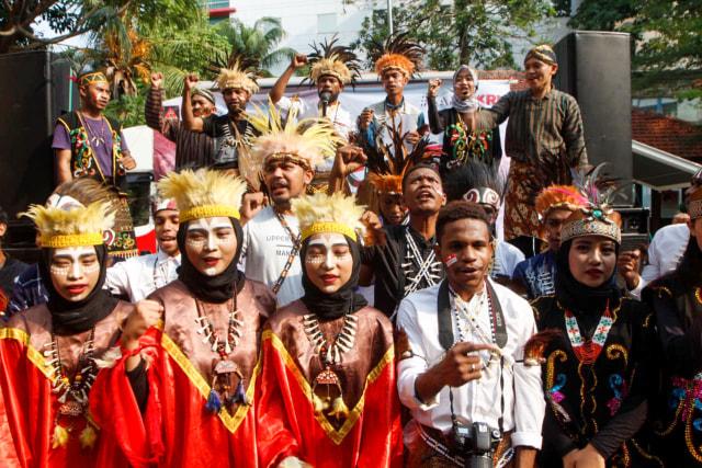 Aliansi Mahasiswa Papua Se-Jabodetabek menggelar aksi damai (NOTCOVER)
