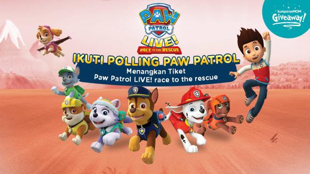 kumparanMOM Bagi-bagi Tiket Nonton Paw Patrol Live! Race to The Rescue (22060)